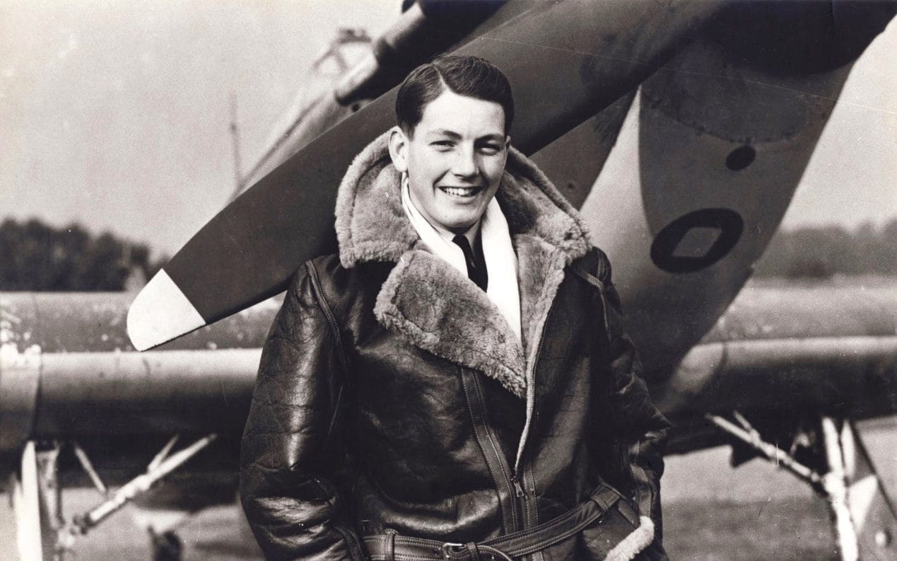 Elkington with his Hurricane