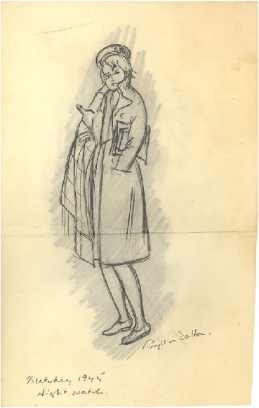 'Night Watch' by Wren Bombe Operator Phyllis Barton (nee Dalton) BLYTH