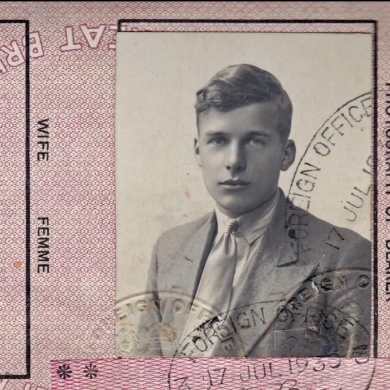 Micky Burn MC passport photograph