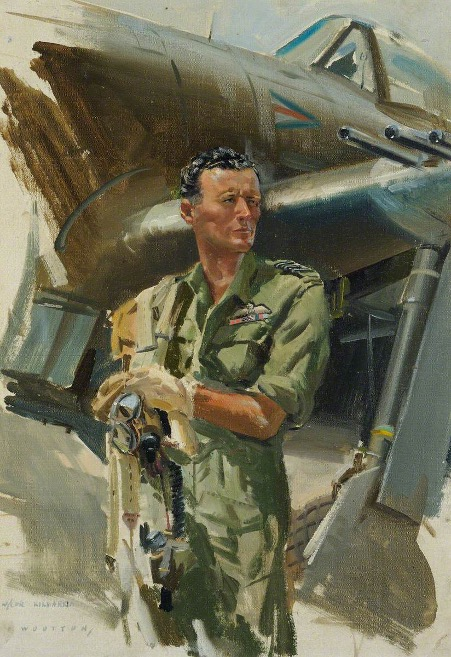 Wing Commander John Ignatius Kilmartin, DSO, SEAC (South East Asia Command) by Frank Wootton (1911–1998) Royal Air Force Museum